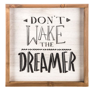 Don't Wake The Dreamer Wood Wall Decor