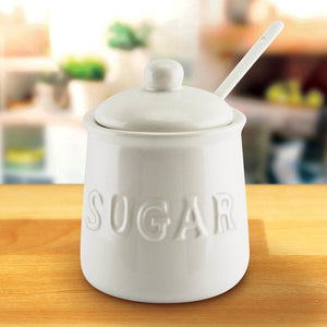 16 Oz Ceramic Sugar Jar