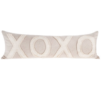 Natural XOXO Lumbar Pillow