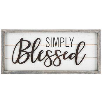 Simply Blessed Wood Wall Decor