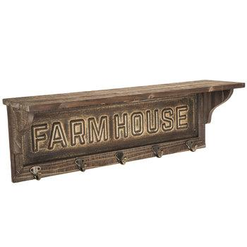 Distressed Brown Farmhouse Wood Wall Shelf - King City Treasures