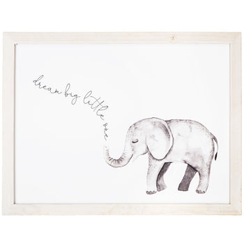 Dream Big Elephant Wood Wall Decor