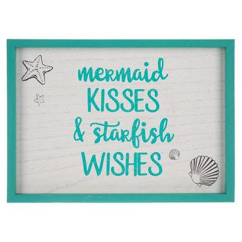 Mermaid Kisses Wood Wall Decor