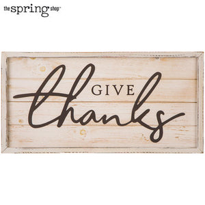 Give Thanks Wood Wall Decor