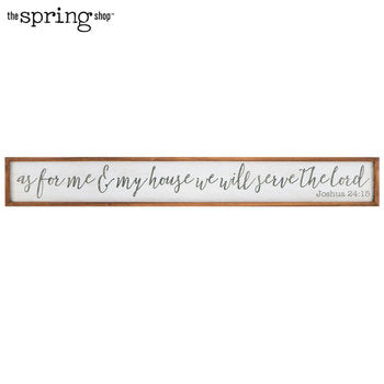 Joshua 24:15 Wood Wall Decor