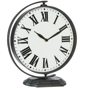 Black Rustic Metal Clock - King City Treasures