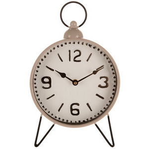 Gray Metal Clock