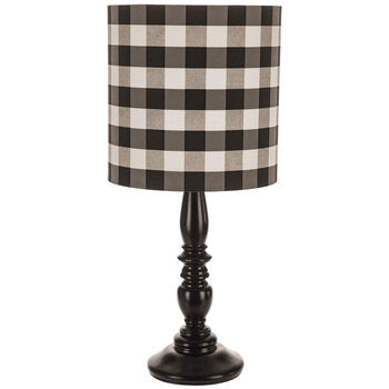 Black & White Gingham Lamp