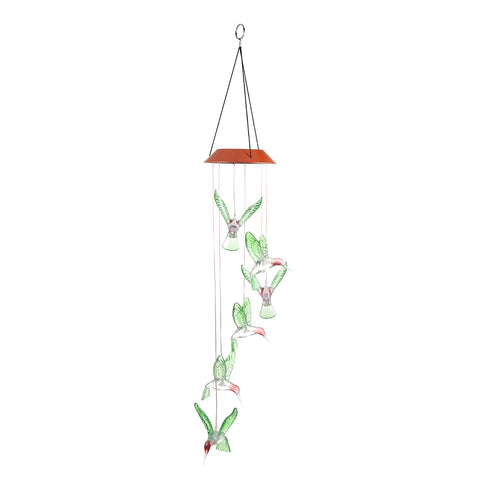 Solar Powered LED Wind Chimes Light Garden Home Decor