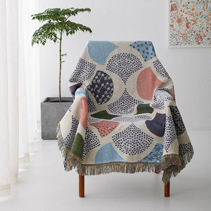 2018 New Leaves Knit Chair Sofa Throw Covers Sofa Towel Blanket Leaf Couch Carpet Travel Plaids Bedding Sofa Cover Tapestry - King City Treasures