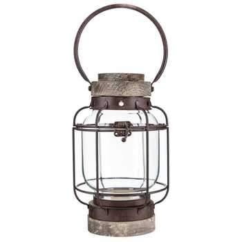 Retro Wood & Iron Lantern