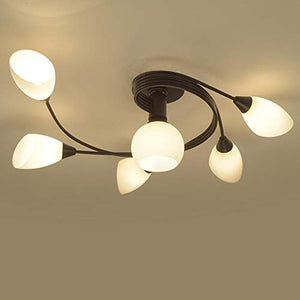 Joypeach Rustic Style LED Flush Mount Ceiling Lights, Creative Living Room Ceiling Lamp, Bedroom Ceiling Lamp, Ceiling Lamp For Dinning Room (110V)