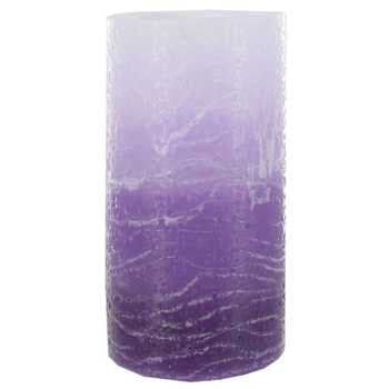 "Purple LED Layered Pillar Candle 3"" x 6"""