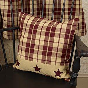 "Burgundy Farmhouse Star 16"" Pillow - King City Treasures"