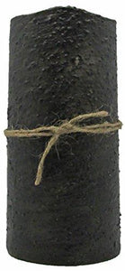 "Star Hollow Candle Co Battery Timer Pillar Candle, 3"" x 6"", Rustic Black"