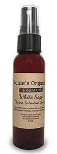 Homemade White Sage Divine Intention Spray: Smokeless Body, Room and Object White Sage Smudge Spray (2 FL OZ)