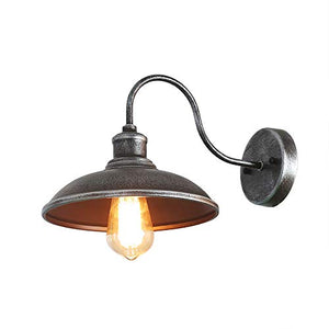 Giluta Industrial Wall Sconce Light of Rustic Vintage Wall Lighting Fixture with Metal Shade Indoor Antique Edison Style and Retro Look Wall lamp for Living Room Bedroom Bathroom Farmhouse (1 Light)