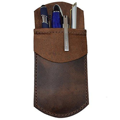Leather Pocket Protector/Pen Pouch