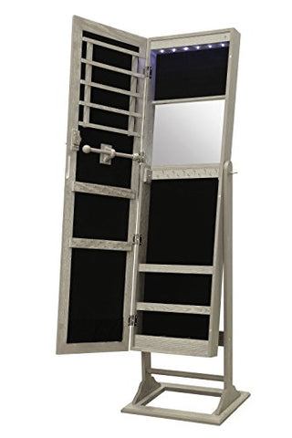 Locking Standing Jewelry Armoire