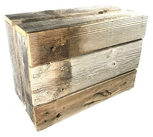 Barnwood Decor of OKC Old Farmhouse Barnwood Crate Decorative Weathered Wood Crate - King City Treasures