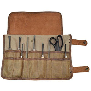 Waxed Canvas Snap Tool Roll/Barber Roll Handmade by Hide & Drink :: Fatigue
