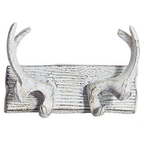 Comfify Vintage Cast Iron Deer Antlers Wall Hooks - King City Treasures