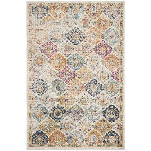 c24d2c727ac Safavieh Madison Collection MAD611B Cream and Multicolored Bohemian Chic  Distressed Area Rug (5 1