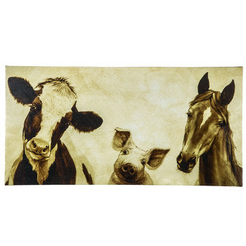 Sepia Farm Animal Canvas Wall Decor