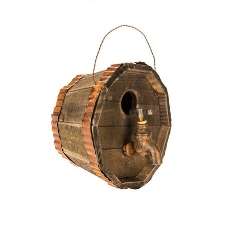 Barrel Birdhouse with Faucet - King City Treasures