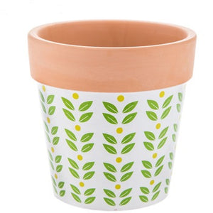 Leaf Pattern Flower Pot