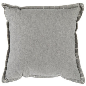 Gray Whip Stitch Pillow