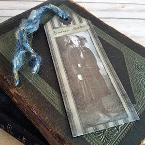 Victorian Girl With Doll Vintage Style Bookmark Kindness Matters