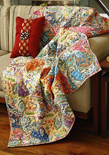 "Patchwork Decorative Throw Blanket 50""x60"""