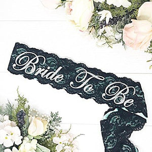 Bachelorette Sash - Satin & Lace - Mint - King City Treasures