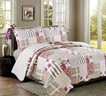 Coast to Coast Living 3-Pc Quilt Sets Luxurious Soft Hypoallergenic (Americana, King) - King City Treasures