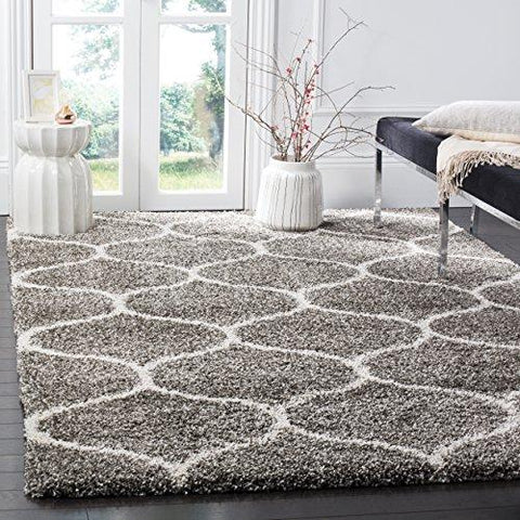 Hudson Shag Collection Moroccan Ogee Plush Area Rug (6' x 9')