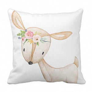 Floral Bohemian Boho Woodland Baby Nursery Girl Decorative Pillow Case