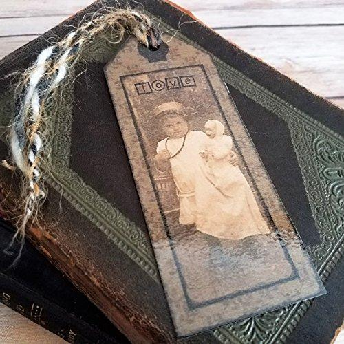 Victorian Girl With Doll Vintage Style Bookmark