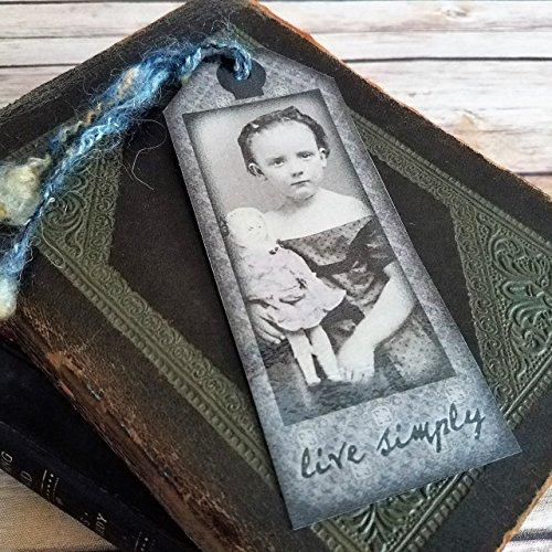 Victorian Child With Doll Vintage Style Bookmark