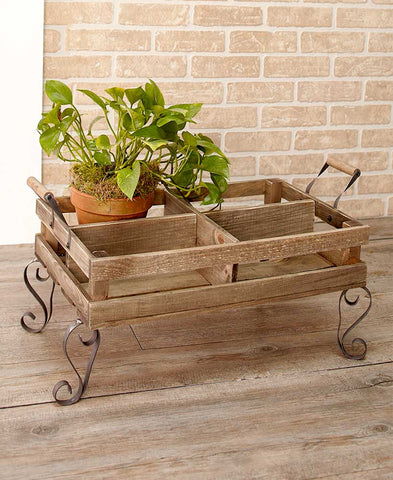 Rustic Divided Plant Cart