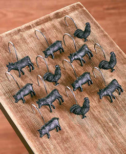 Farm Life Shower Hooks