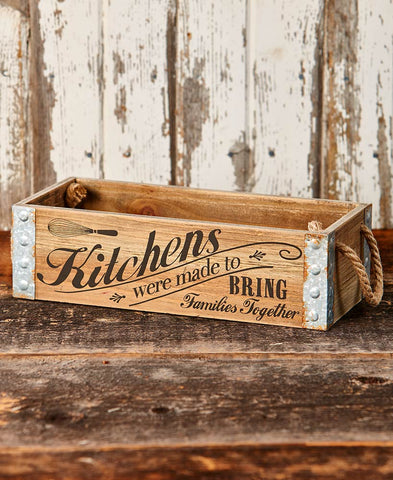 Farmhouse Country Kitchen Crate
