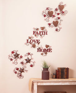 3-Pc. Hearts and Stars Wall Art