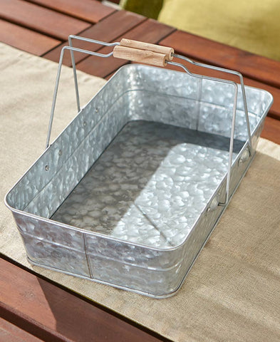Galvanized Serving Tray