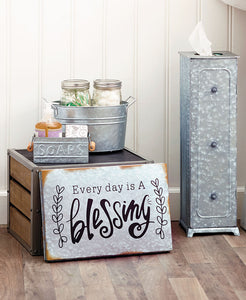 Galvanized Tin Bathroom Collection