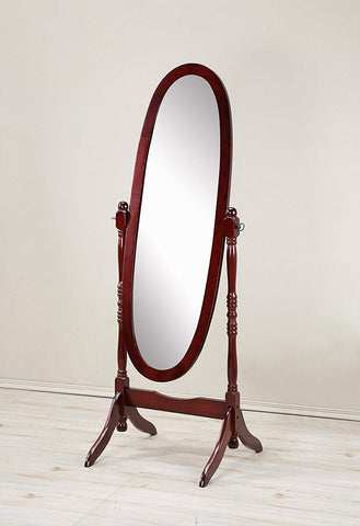 Traditional Wood Floor Cheval Mirror