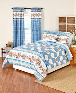 Hearts and Stars Country Blue Bedroom Ensemble