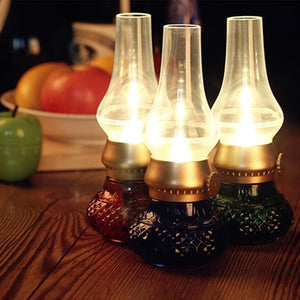 Retro Nightlight, Blowing Control LED Kerosene Lamp