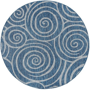 Transitional Geometric Round Area Rug