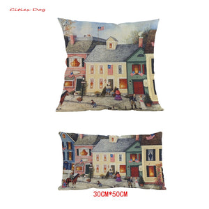 American Country Style Flag Street Pillow - King City Treasures